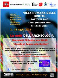 Locandina A3 Notti Archeologia_2016 Grotte - Caccia al tesoro ridotto